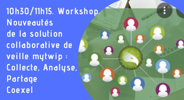 10h30/11h15. Workshop. Nouveautés de la solution collaborative de veille mytwip : Collecte, Analyse, Partage