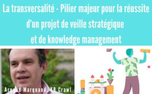 15h30/16h15. La transversalité - Pilier majeur pour la réussite d'un projet de veille stratégique et de knowledge management